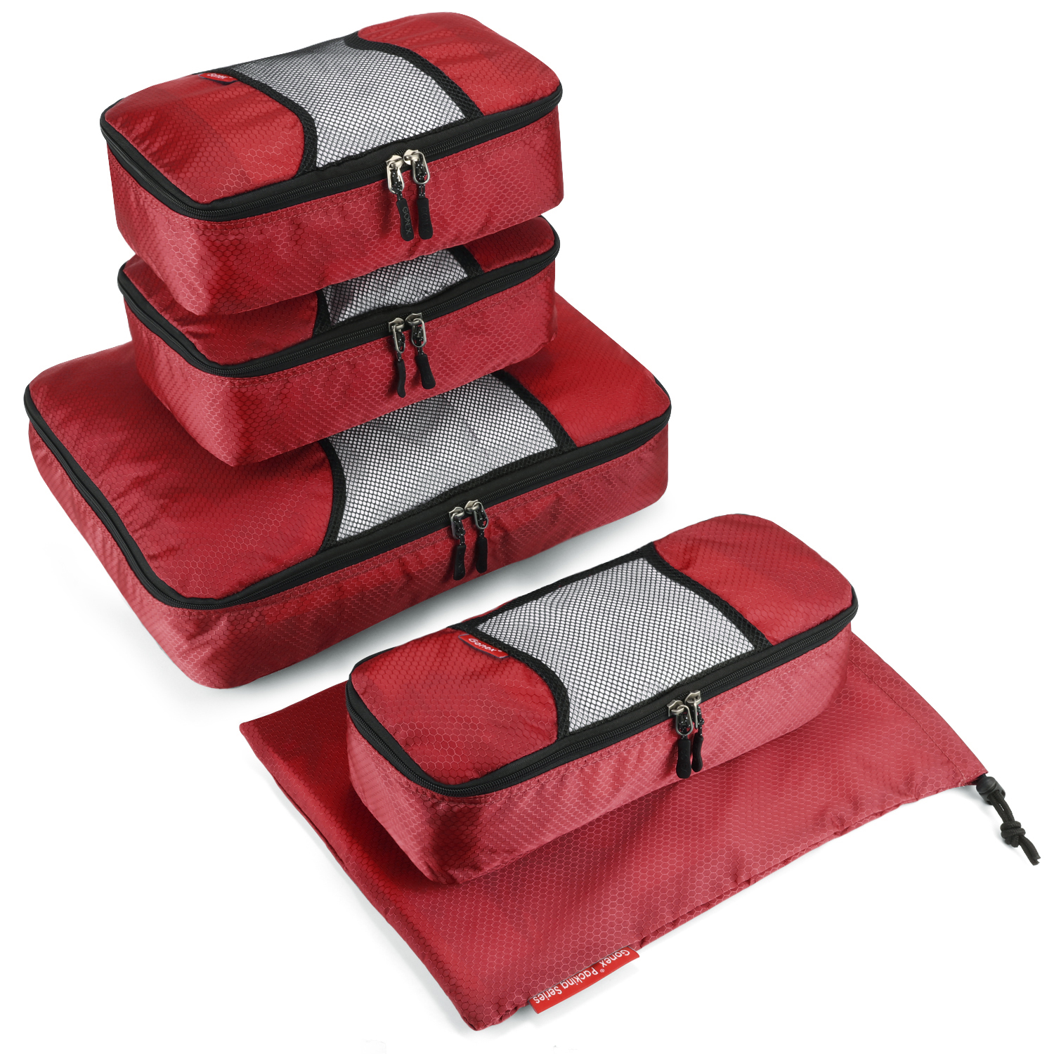 4 Set Packing Cubes Travel Luggage Packing Organizers Llama Lying On The Grass