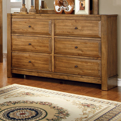 Hokku Designs Botellier 6 Drawer Dresser with Mirror