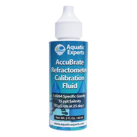 AccuBrate Refractometer and Hydrometer Salinity Calibration Fluid – 60