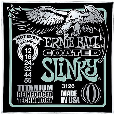 Ernie Ball 3126 Coated Titanium Not Even Slinky Electric Guitar Strings