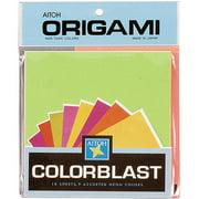 "Origami Paper, 5.875"" x 5.875"", 18pk, Colorblast Neon Colors"