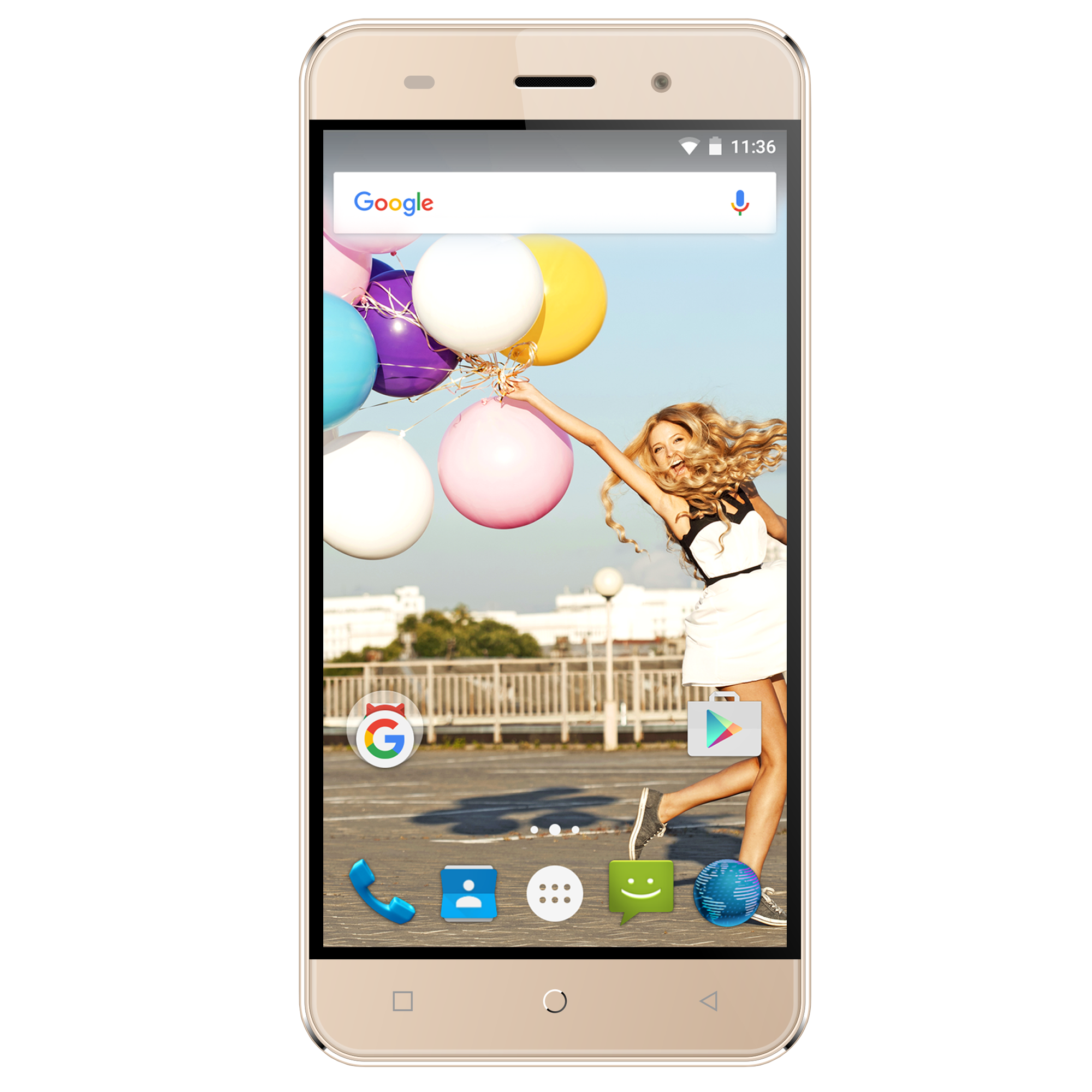 "The Orbic Slim Unlocked 5""Android Smartphone Gold"