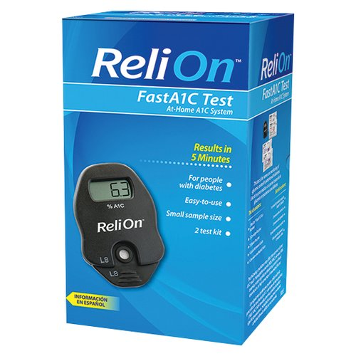 ReliOn FastA1C Test At-Home A1C System