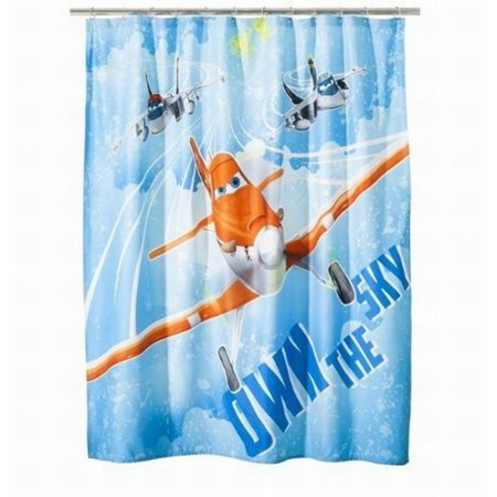 Disney Planes Fabric Shower Curtain Airplane Bath Decor