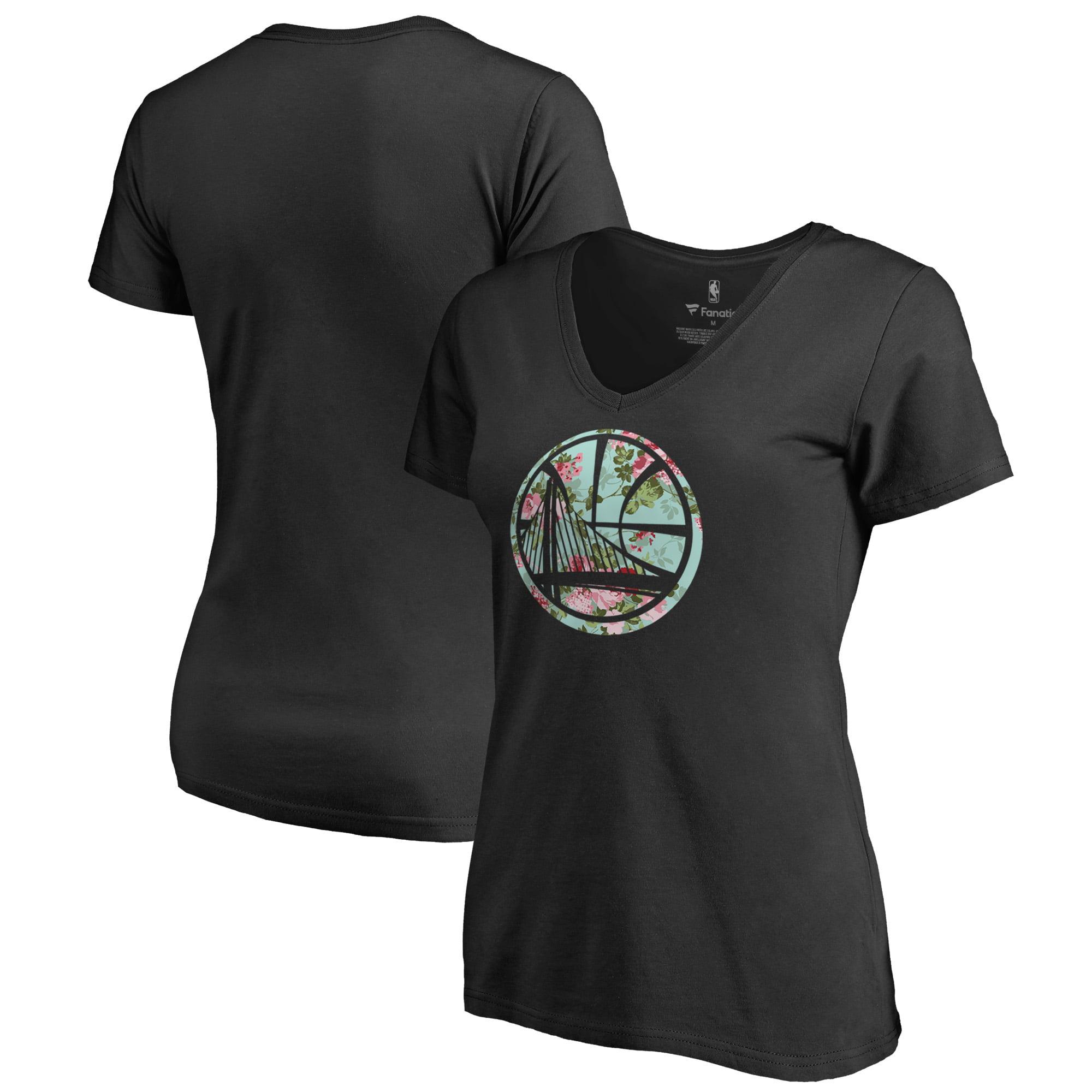 Golden State Warriors Fanatics Branded Lovely V-Neck T-Shirt - Black