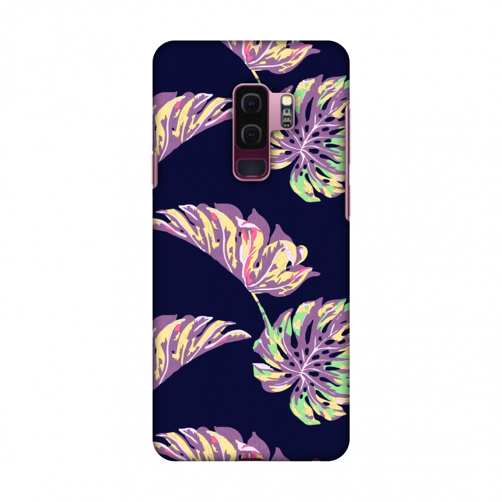Samsung Galaxy S9 Plus Case - Vivid Tropical - Midnight Blue, Hard Plastic Back Cover, Slim Profile Cute Printed Designer Snap on Case with Screen Cleaning Kit