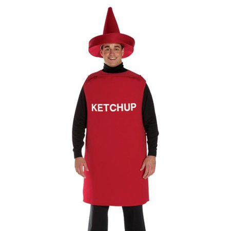 Adult Ketchup Bottle Costume for $<!---->