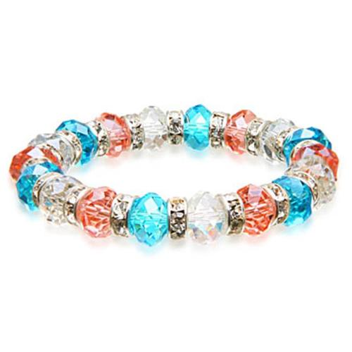 Alexander Kalifano BLUE-BGG-16 Gorgeous Glass Bracelet - Multi-Colored