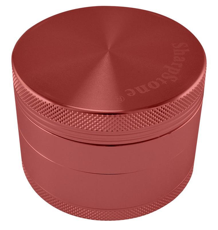 "2.5"" Sharpstone 4pc Solid Top Grinder - Red"
