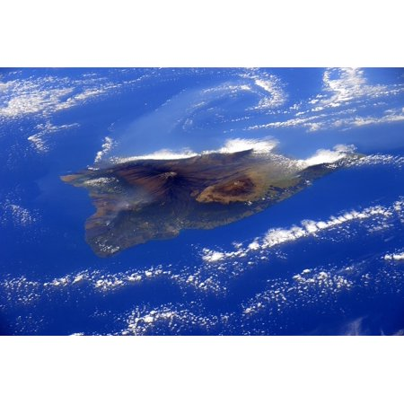 Laminated Poster Ocean Sea Island Of Hawaii Clouds Earth Poster Print 24 X 36