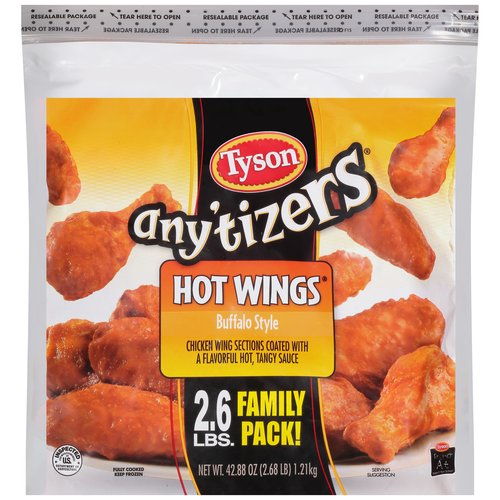 Tyson Any'tizers Buffalo Style Hot Wings, 42.88 oz