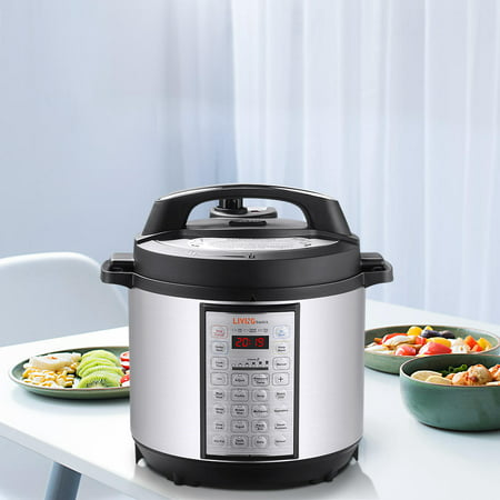 6 Quart Multi-use Pressure Cooker, 18-in-1 Programmable Rice cooker, Stainless inner cntainer - image 9 of 10