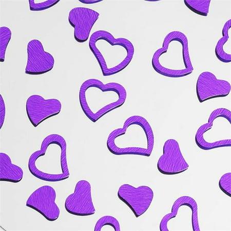 - Efavormart Metallic Foil Wedding-Party Heart Confetti - 300 PCS- Purple