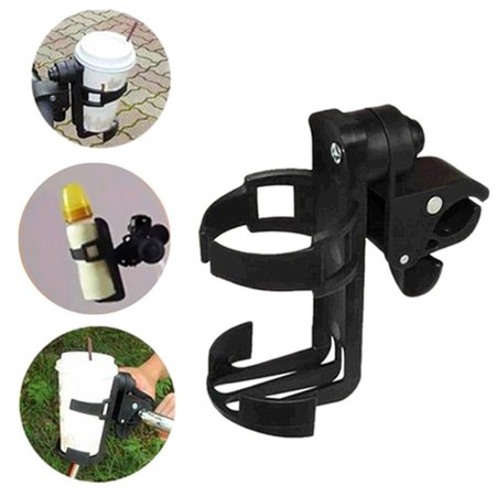 Jeobest 1PC Universal Stroller Cup Holder - Baby Stroller Cup Holder - 360 Degrees Universal Rotation Cup Drink Holder Stand for Baby Stroller, Pushchair Bicycle Strollers (Black) (Stroller Drink Holder)
