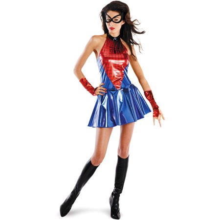 Spider-Girl Sassy Adult Halloween Costume (Tv And Movie Character Costumes)