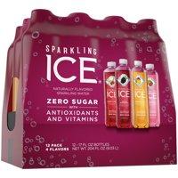 Sparkling Ice® Variety Pack, 17 Fl Oz, 12 Count (Black Raspberry, Cherry Limeade, Orange Mango, Kiwi Strawberry)