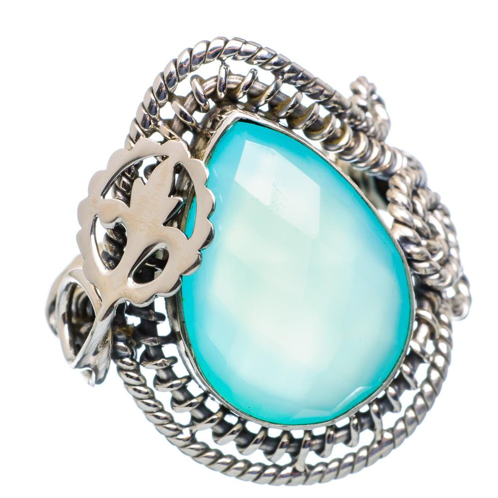 Ana Silver Co Aqua Chalcedony Ring Size 6.5 (925 Sterling Silver) Handmade Jewelry RING859138 by Ana Silver Co.