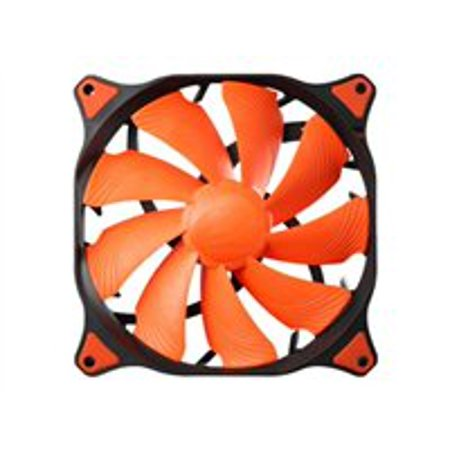 Cougar Vortex CF-V12HP 120mm Hydro Dynamic (Liquid) Bearing PWM Case Fan, (Orange Case Fan)