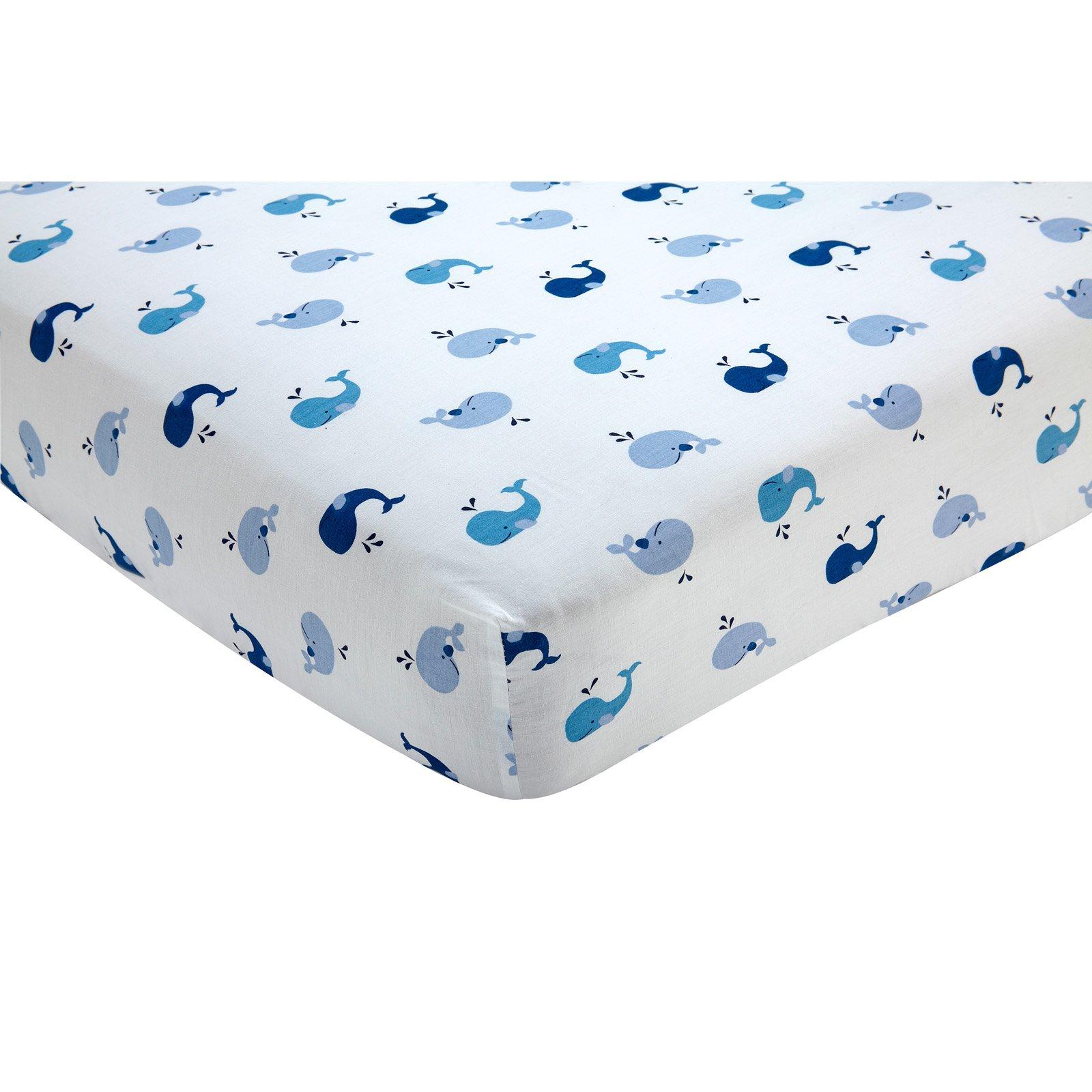 Brody Nautical Whale Fitted Crib Sheet By Nautica Kids Walmartcom
