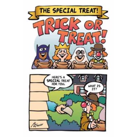 Tract-Halloween: Special Treat (NIV) (Pack Of 25) - Gospel Tracts For Halloween