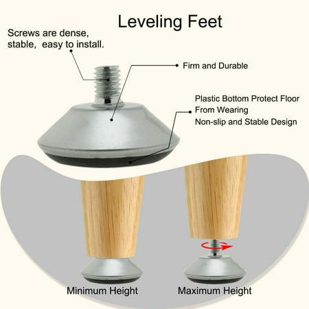 M8 x 11 x 40cm Leveling Feet Adjustable Leveler for Furniture Machine Leg 10pcs - image 4 of 7