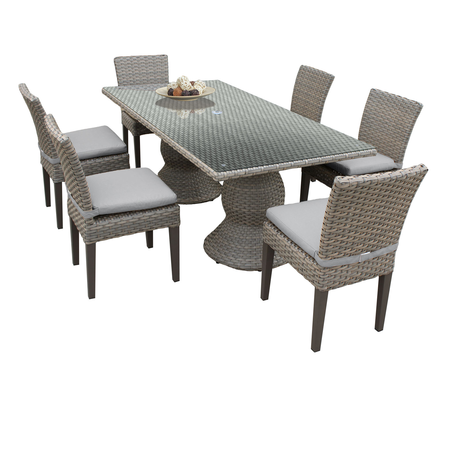 Harmony Rectangular Outdoor Patio Dining Table With 6 Chairs  Walmart.com