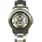 US Army Slim Steel Watch