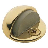 Baldwin 4005030 Half Dome Door Bumper, Polished Brass