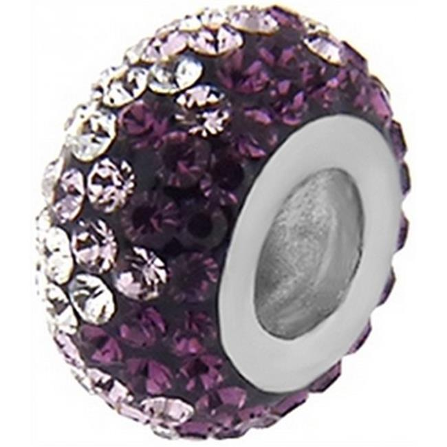Doma Jewellery DJS02818 Sterling Silver (Rhodium Plated) Ball Pendant with Crystal
