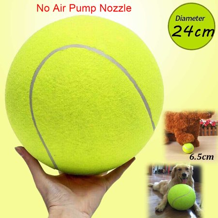 "1/2/3/4 PCS Large Pet Toy Ball, 9.5"" Rubber Kelly Giant Tennis Ball, Durable Mega Jumbo Dog Play Supplies Fun Thrower Chucker Play Training,Pet Instincts Interact Fetch Balls"
