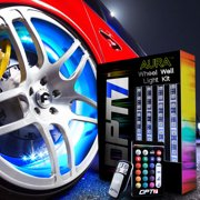 """AURA® 4pc Wheel Well Accent Lighting LED Strip Kit 