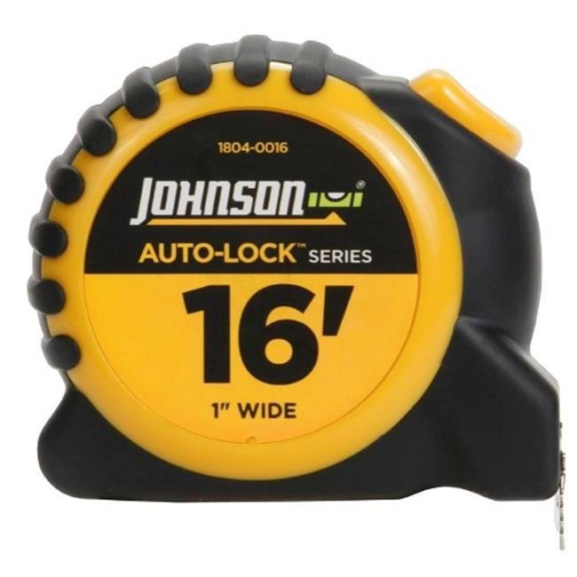 Johnson Level 1804-0016 16 ft.  x 1 inch Auto-Lock Power Tape