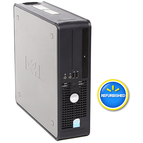 Refurbished Dell 745 SFF Desktop PC with Intel Dual-Core Processor, 4GB Memory, 160GB Hard Drive and Windows 7 Professional (Monitor Not Included)
