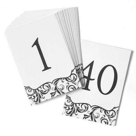 Hortense B Hewitt Flourish Table Number Cards