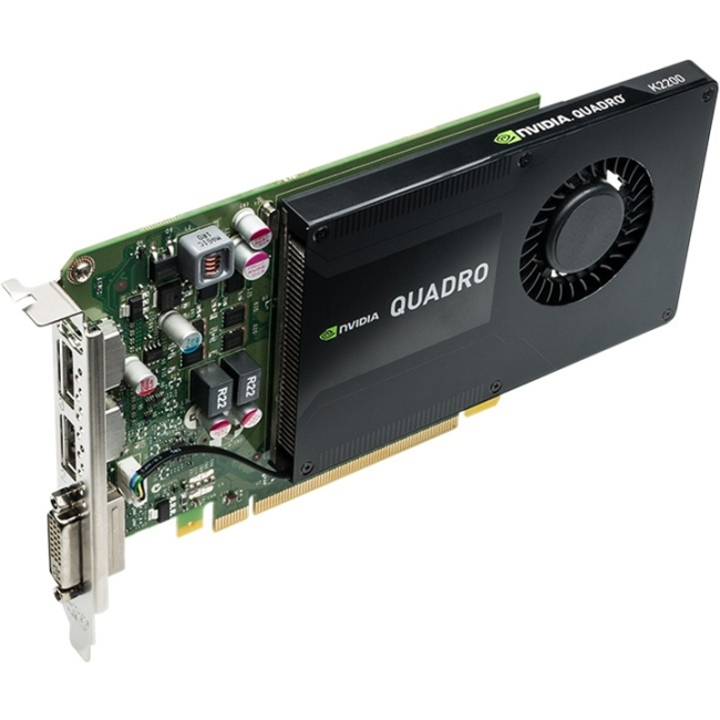 PNY Quadro K2200 Graphic Card 4 GB GDDR5 Full-height Single Slot Space Required 128 bit Bus Width 3840 x 2160 Fan Cooler... by PNY