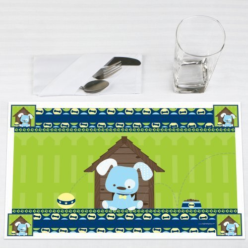 Boy Puppy Dog Party Placemats Set of 12 by Big Dot of Happiness, LLC
