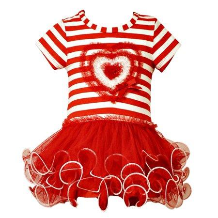Bonnie Jean Little Girls Valentines Day Tutu Dress 2T  Final Sale - Tutu Stores