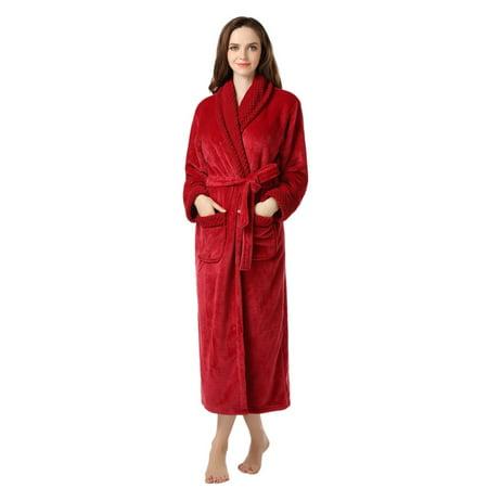 Richie House - Richie House Women s Plush Soft Warm Fleece Bathrobe RH1591  - Walmart.com 0f8c608f7