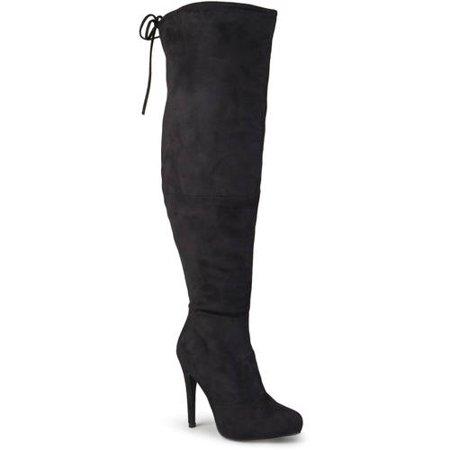 a2ec2a6faf7d Womens Wide Calf High Heel Over-the-knee Boots - Walmart.com