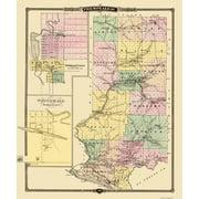 Old County Map - Trempealeau Wisconsin Landowner - Snyder 1878 - 23 x 27 5