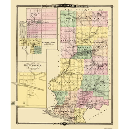 Old County Map - Trempealeau Wisconsin Landowner - Snyder 1878 - 23 on old maps of columbia county, old schools in st. croix county wi, old texas state map,