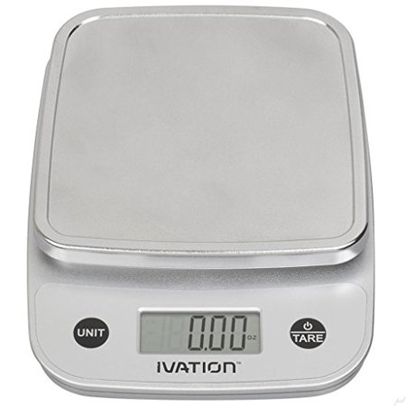 digital kitchen food scale 11 pounds capacity silver