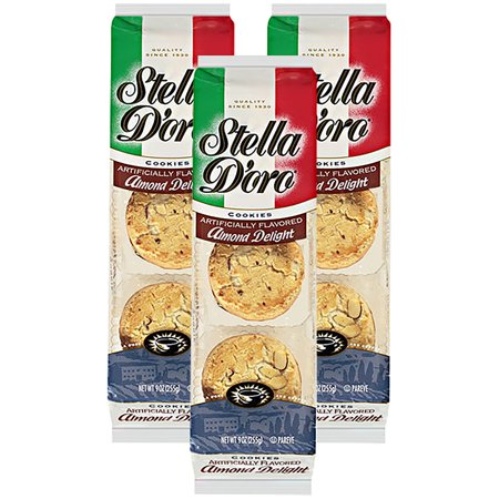(3 Pack) Stella D'oro Almond Delight Cookies, 9 -