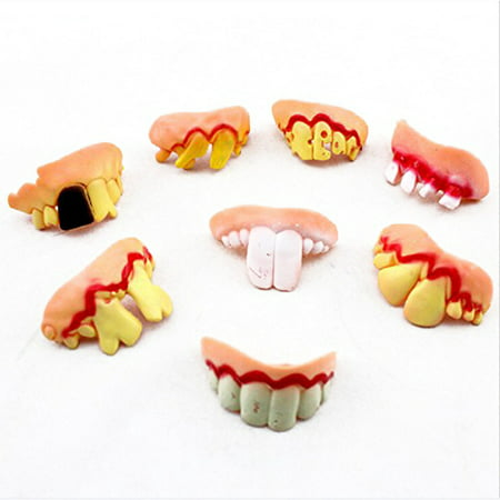5pcs Funny Wacky Artificial Teeth False Tooth Prop Toy for Halloween Easter Masquerade Party - West Hollywood Halloween Parties 2017