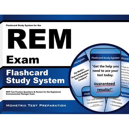 Flashcard Study System for the REM Exam: REM Test Practice Questions & Review for the Registered Environmental Manager