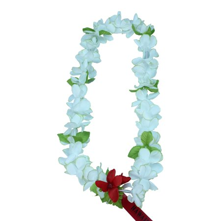 0c44f02f23c3 Hawaii Luau Party Artificial Fabric Princess Plumeria Lei White with Green  Edge - Walmart.com