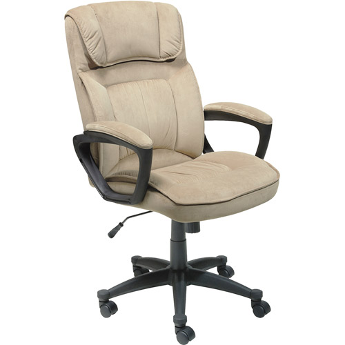 Serta Executive Microfiber Office Chair, Light Beige