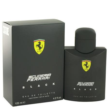 Ferrari Ferrari Scuderia Black Eau De Toilette Spray for Men 4.2 (Scuderia Ferrari Men)