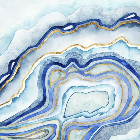 Cobalt Agate II Blue Abstract Contemporary Art Print Wall Art By Grace (Paint Contemporary Art)