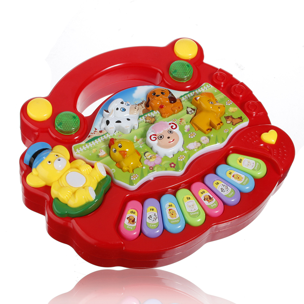 Meigar Educational Toy Musical Animal Farm Piano Developmental Music Toy Baby Toddler Infant Kids Intelligence Toys Gift